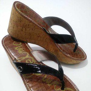 Sam Edelman Womens ROMY Flip Flop Sandals Black Co